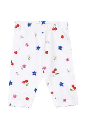 Leggings bianco con stampa multicolor Monnalisa kids Monnalisa kids | 411469946 | 31541456299984