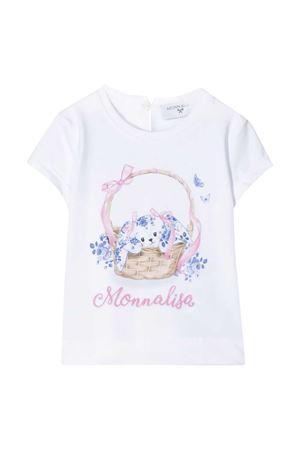 T-shirt bianca con stampa multicolor Monnalisa kids Monnalisa kids | 8 | 315601S152010099