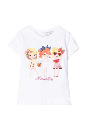 White t-shirt with frontal press Monnalisa kids Monnalisa kids | 8 | 315623P652010099