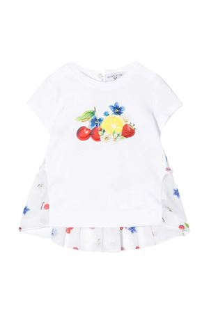 White dress with multicolor details Monnalisa kids Monnalisa kids | 11 | 315631PB52010099