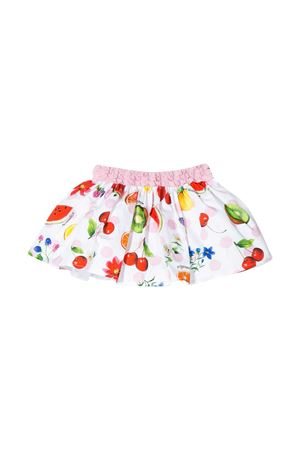 White skirt with multicolor press Monnalisa kids Monnalisa kids | 15 | 31570456289984