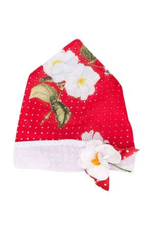 Red floreal hat with flower Monnalisa kids Monnalisa kids | 75988881 | 39502556324499