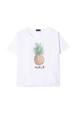 White t-shirt with press Monnalisa kids Monnalisa kids | 8 | 495608P850160099