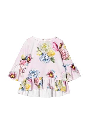 Pink top with floreal press Monnalisa kids Monnalisa kids | 40 | 715305F156520090