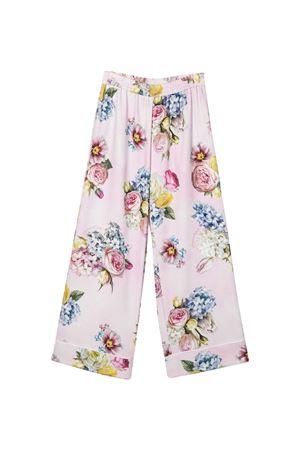 Pink trousers with floreal press Monnalisa kids Monnalisa kids | 9 | 71540456520090