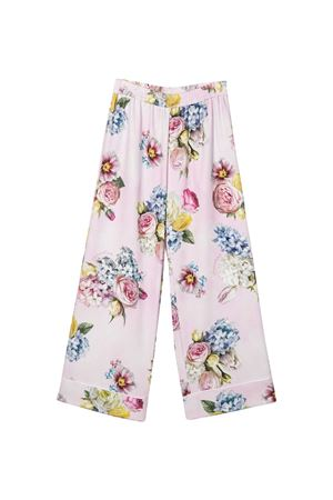 Pink teen trousers with floreal press Monnalisa kids Monnalisa kids | 9 | 71540456520090T