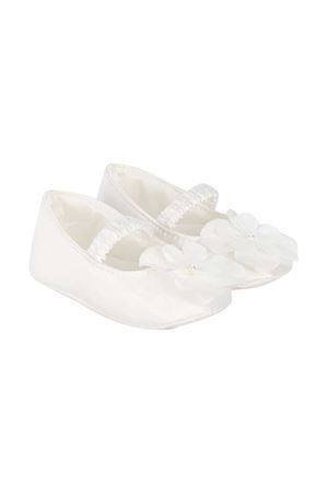 White ballerina shoes with flower application Monnalisa kids | 12 | 73500651200001