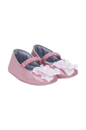 Pink ballerina shoes with flower application Monnalisa kids Monnalisa kids | 12 | 73500651209052