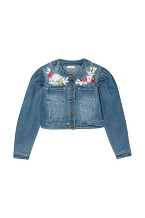Blue denim jacket Monnalisa kids teen Monnalisa kids | -276790253 | 795102R250100061T