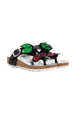 Black sandals Monnalisa kids  Monnalisa kids   12   8C501357110050