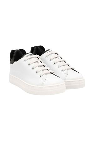 White teen sneakers with logo Moschino kids MOSCHINO KIDS | 12 | 63708VAR1T