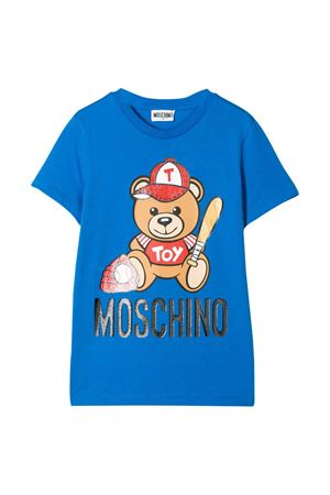 T-Shirt blu con stampa Toy Moschino kids MOSCHINO KIDS | 8 | H5M01ILBA1040624
