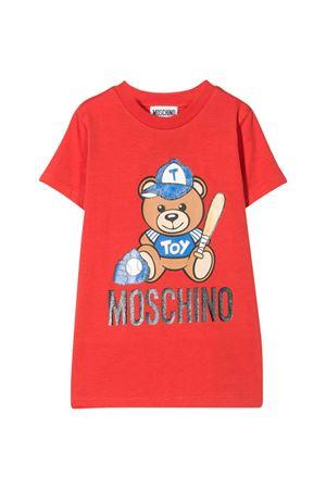 Red Teen T-Shirt with Toy press Moschino Kids MOSCHINO KIDS | 8 | H5M01ILBA1050109T