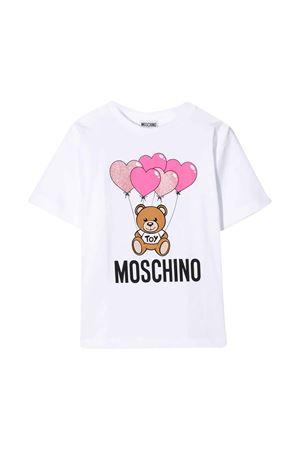White T-Shirt with Toy press Moschino Kids  MOSCHINO KIDS | 5032307 | HAM02TLBA0010101