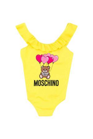 Costume giallo con stampa multicolor Moschino kids MOSCHINO KIDS | 85 | HDL00DLKA0051633