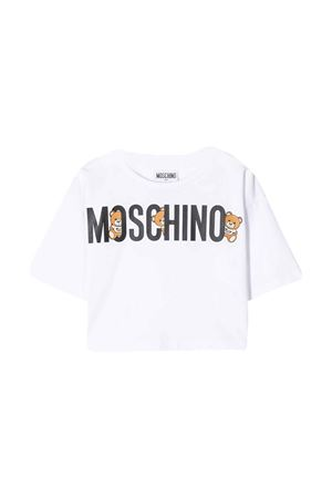 White t-shirt with frontal logo Moschino kids MOSCHINO KIDS | 8 | HDM03DLBA0010101