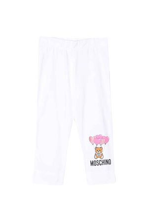 White leggings Moschino kids  MOSCHINO KIDS | 411469946 | HDP03PLBA0010101