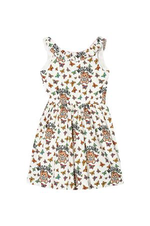 White dress with multicolor press Moschino kids MOSCHINO KIDS | 11 | HDV08OLMB0782567