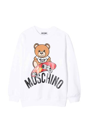 White sweatshirt Moschino kids  MOSCHINO KIDS | -108764232 | HQF02HLDA1310101