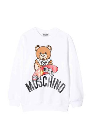 Felpa bianca Moschino kids teen MOSCHINO KIDS | -108764232 | HQF02HLDA1310101T