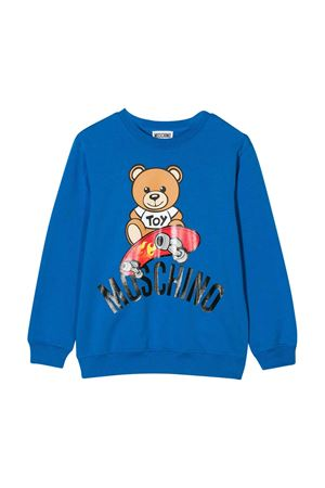 Blue sweatshirt Moschino kids  MOSCHINO KIDS | -108764232 | HQF02HLDA1340624