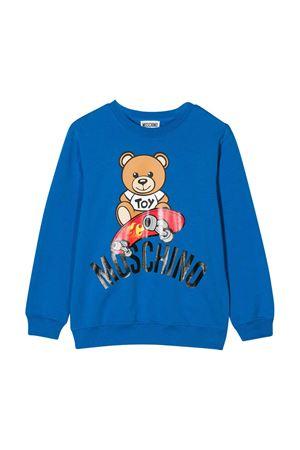 Felpa blu Moschino kids teen MOSCHINO KIDS | -108764232 | HQF02HLDA1340624T