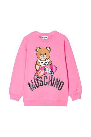 Felpa rosa teen con stampa frontale Moschino kids MOSCHINO KIDS | -108764232 | HQF02HLDA1351470T