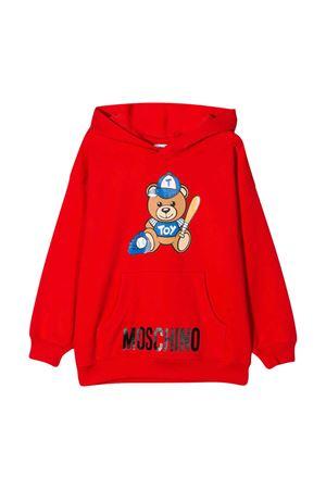 Felpa rossa Moschino kids teen MOSCHINO KIDS | 5032280 | HUF03ELDA1350109T