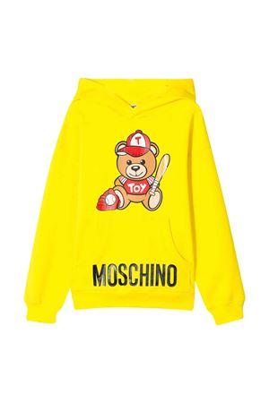 Felpa gialla Moschino kids teen MOSCHINO KIDS | 5032280 | HUF03ELDA1351633T