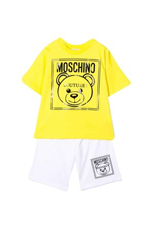 White and yellow suit with logo Moschino kids MOSCHINO KIDS | 42 | HUG000LAA0182561