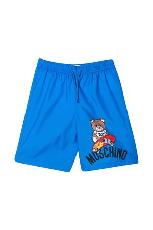 Blue swimsuit with frontal press Moschino kids MOSCHINO KIDS | 85 | HUL011LKA0240624