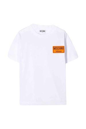 T-shirt bianca teen con logo Moschino kids MOSCHINO KIDS | 8 | HUM02PLAA0110101T