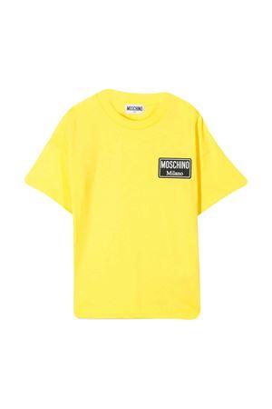 T-shirt gialla con logo frontale Moschino kids MOSCHINO KIDS | 8 | HUM02PLAA0151633