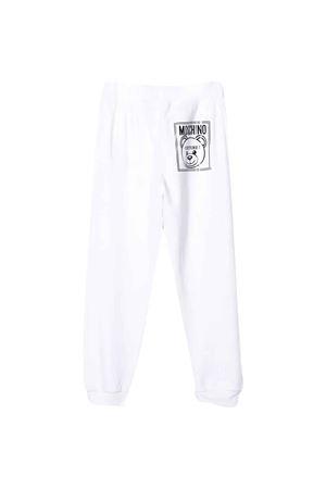 White teen trousers with logo Moschino kids MOSCHINO KIDS | 9 | HUP03DLCA1710101T