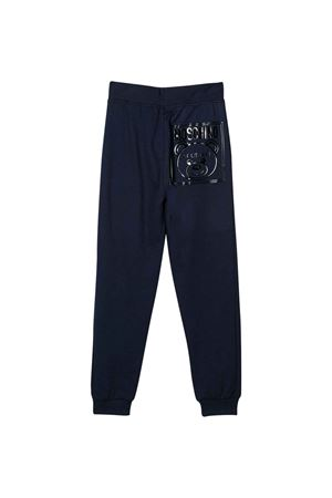 Pantaloni blu Moschino kids teen MOSCHINO KIDS | 9 | HUP03DLCA1740016T