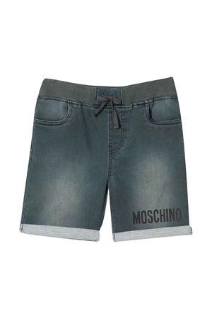 Shorts denim effetto schiarito Moschino kids MOSCHINO KIDS | 30 | HUQ000LDE0660044