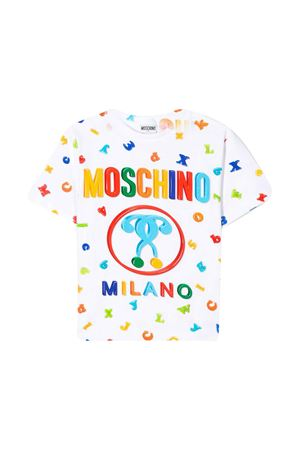 White maxi t-shirt with frontal press Moschino kids MOSCHINO KIDS | 5032307 | HYM029LBA0083327