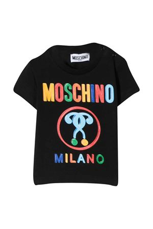 Black t-shirt with frontal press Moschino kids MOSCHINO KIDS | 8 | M7M021LBA0060100