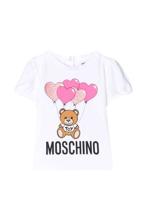 White t-shirt  Moschino kids  MOSCHINO KIDS | 8 | MAM02BLBA0010101