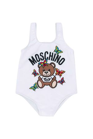 White one-piece swimsuit Moschino kids  MOSCHINO KIDS | 85 | MCL00ALKA0010101