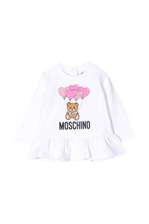 Felpa bianca Moschino kids MOSCHINO KIDS | -108764232 | MDF01YLDA0010101
