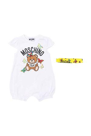 Set neonato bianco con stampa grafica Moschino kids MOSCHINO KIDS | 75988882 | MDY00KLBA0010101