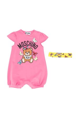 Two-pieces pink set with press Moschino kids MOSCHINO KIDS | 75988882 | MDY00KLBA0051470