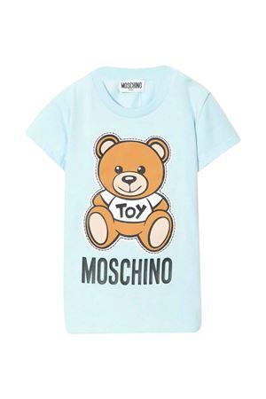 Blue t-shirt Moschino kids  MOSCHINO KIDS | 5032307 | MOM01NLBA0040304