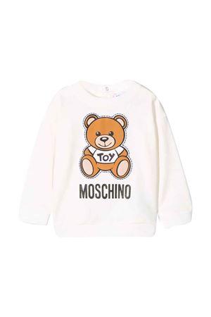 Felpa bianca Moschino kids MOSCHINO KIDS | -108764232 | MPF02ZLDA0010063