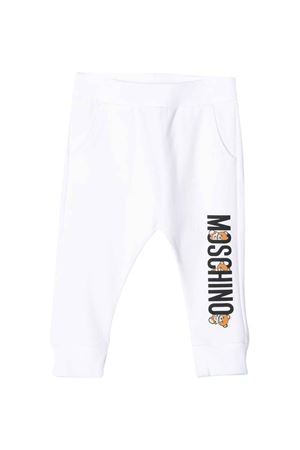 Pantaloni bianchi Moschino kids MOSCHINO KIDS | 9 | MPP02ILDA0010101