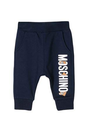 Pantaloni blu Moschino kids MOSCHINO KIDS | 9 | MPP02ILDA0040016