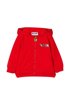 Red hoodie with multicolor press Moschino kids MOSCHINO KIDS | -108764232 | MRF00QLDA0050109