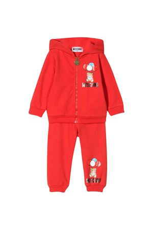Red jumpsuit with multicolor press Moschino kids MOSCHINO KIDS | 19 | MRK00GLDA0050109