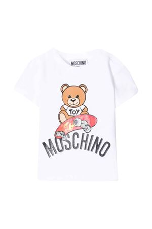 T-shirt bianca Moschino kids MOSCHINO KIDS | 8 | MUM02ALBA1010101